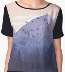 in thought forest Chiffon Top
