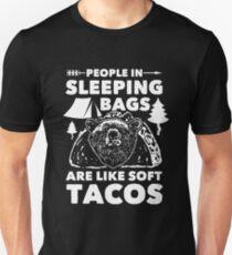 People in Sleeping Bags like Soft Tacos Slim Fit T-Shirt
