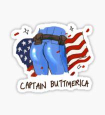 Captain Buttmerica Sticker