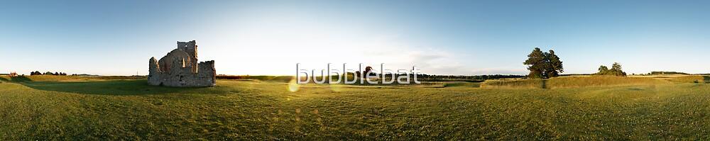 Knowlton Church Panorama by bubblebat
