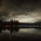Lake Wendouree at night. by Mitchell Harris