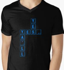 0d3176405d2b9a Yes Yes All Scrabble Word Game Gift Men s V-Neck T-Shirt