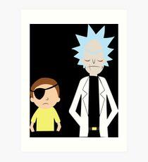 Evil Rick and Morty [PLAIN] Art Print