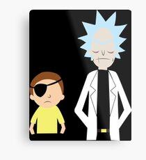 Evil Rick and Morty [PLAIN] Metal Print
