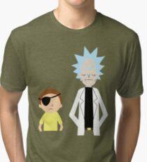 Evil Rick and Morty [PLAIN] Tri-blend T-Shirt