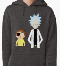 Evil Rick and Morty [PLAIN] Pullover Hoodie
