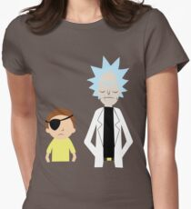 Evil Rick and Morty [PLAIN] Women's Fitted T-Shirt