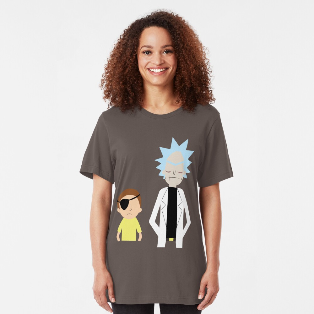 Evil Rick and Morty [PLAIN] Slim Fit T-Shirt