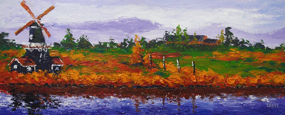 Landscape V • original painting by tilen by tilen