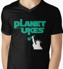 Planet Of The Ukes Men's V-Neck T-Shirt