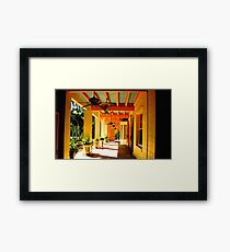 Fans in the Outside Hall Framed Print