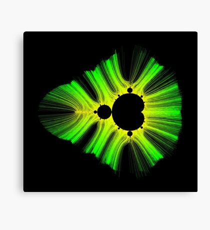 Green Yellow Kirlian Mandelbrot Canvas Print