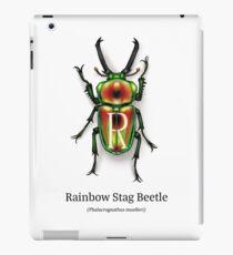 AlphaBeetles - R - Rainbow stag beetle iPad Case/Skin