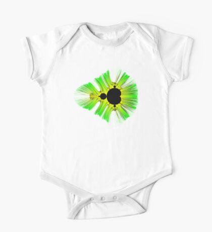 Green Yellow Kirlian Mandelbrot Kids Clothes