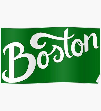 Boston Hand Lettering Poster