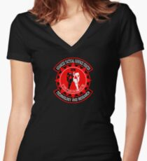 Advanced Tactical Surface Fighter Women's Fitted V-Neck T-Shirt
