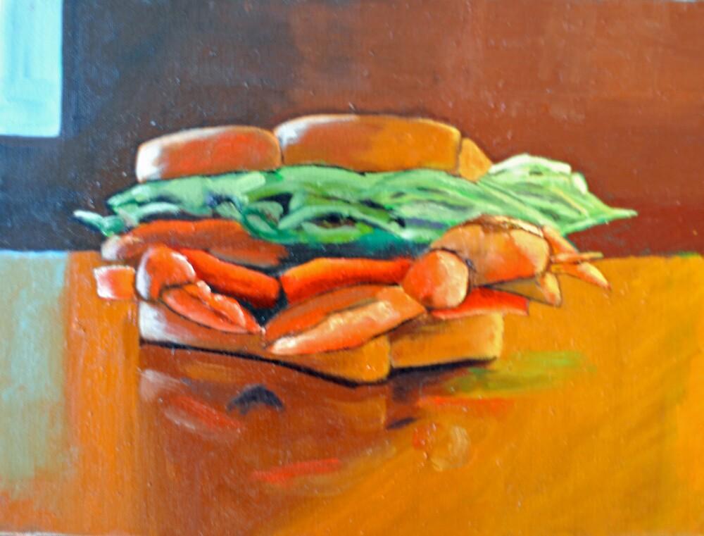 Soft Crab Sandwich by Phyllis Dixon