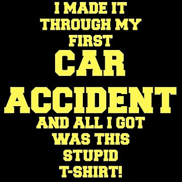 Car Accident Recovery Gift Get Well Soon Feel Better Funny Design by mrkprints