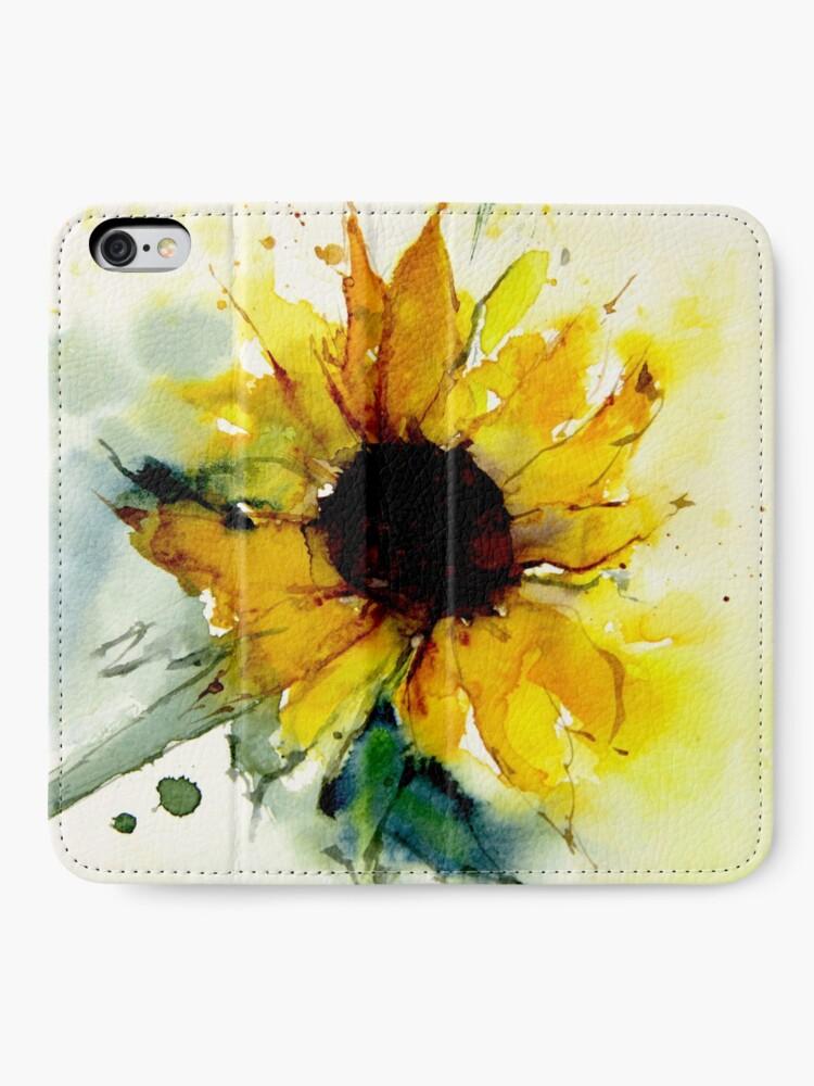 Alternate view of sunflower iPhone Wallet