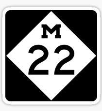 Michigan M-22   Leelanau Scenic Heritage Route   United States Highway Shield Sign Sticker Sticker