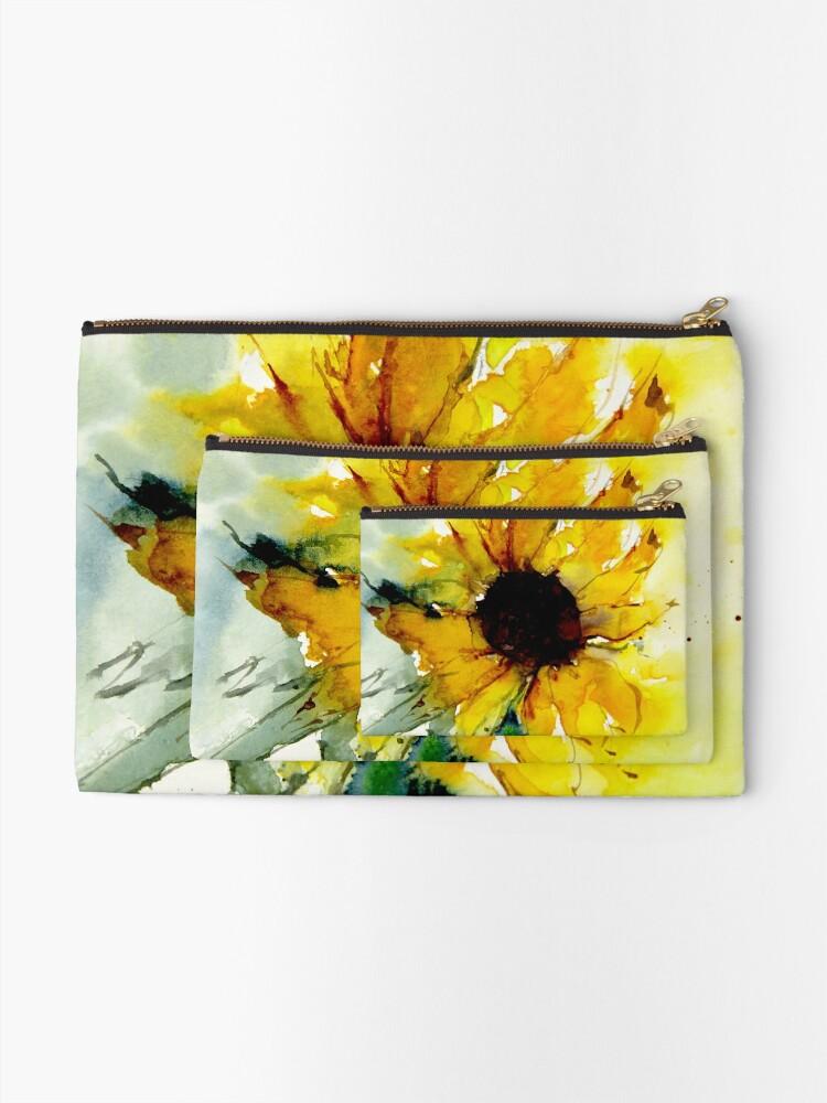 Alternate view of sunflower Zipper Pouch