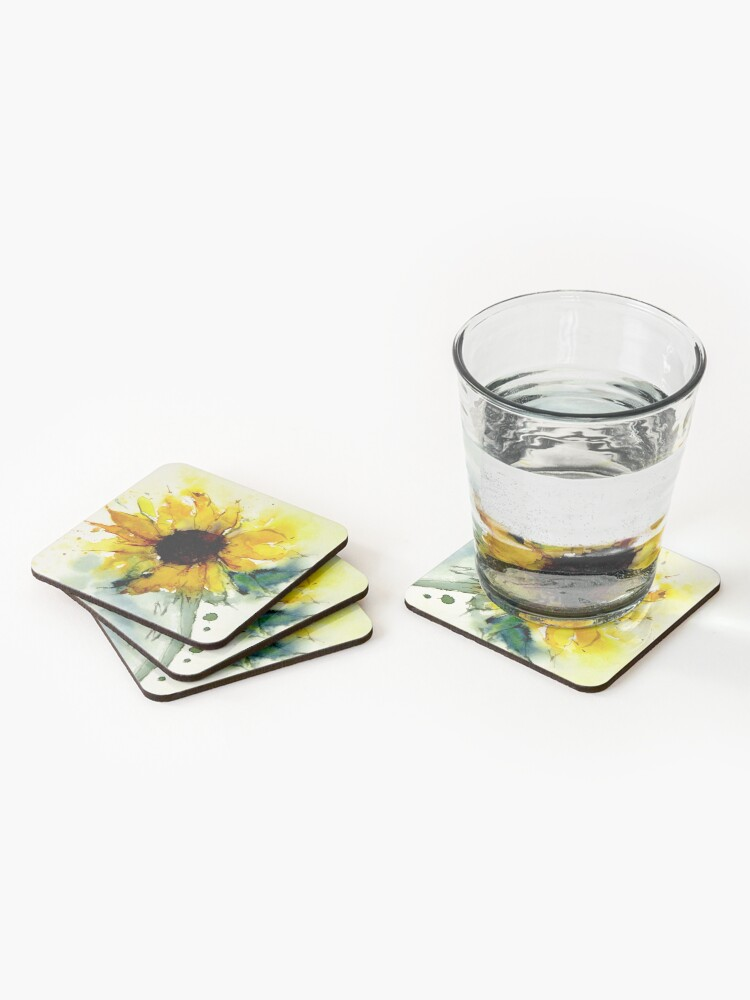 Alternate view of sunflower Coasters (Set of 4)