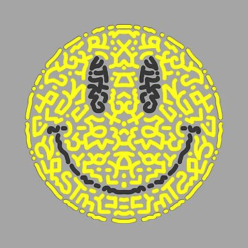 Yellow Smiley Happy Face  by Karotene