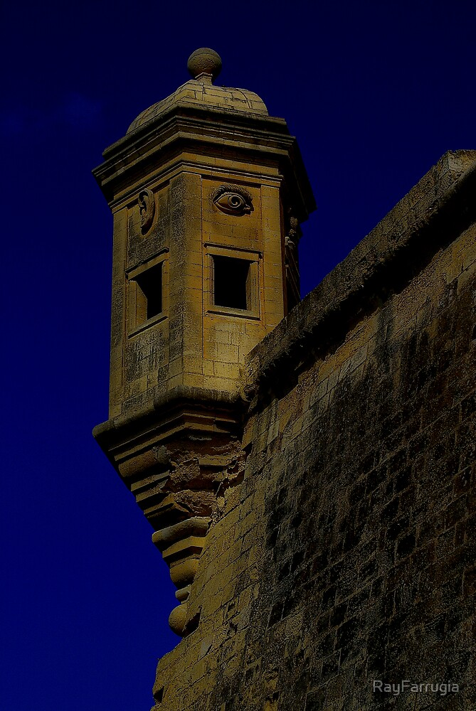 WATCH TOWER AT SENGLEA POINT by RayFarrugia