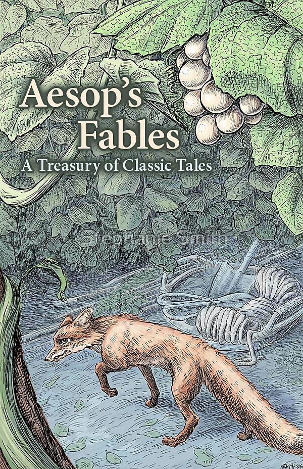 Aesop's Fables book cover concept by Stephanie Smith