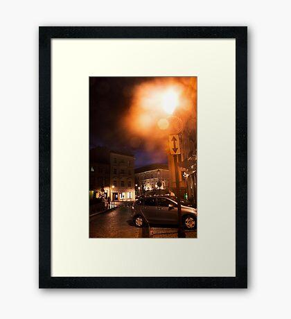 Vilnius at night (My city) Framed Print