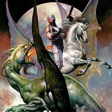 Robocop on a Unicorn, Slaying a Dragon by SkipHarvey