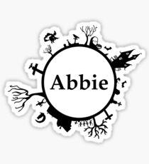 Halloween Name Abbie Sticker