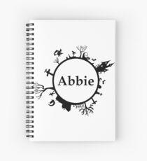 Halloween Name Abbie Spiral Notebook