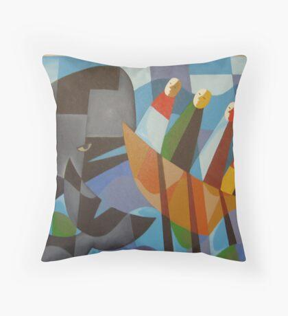 TASMANIAN WHALERS 1830 Throw Pillow