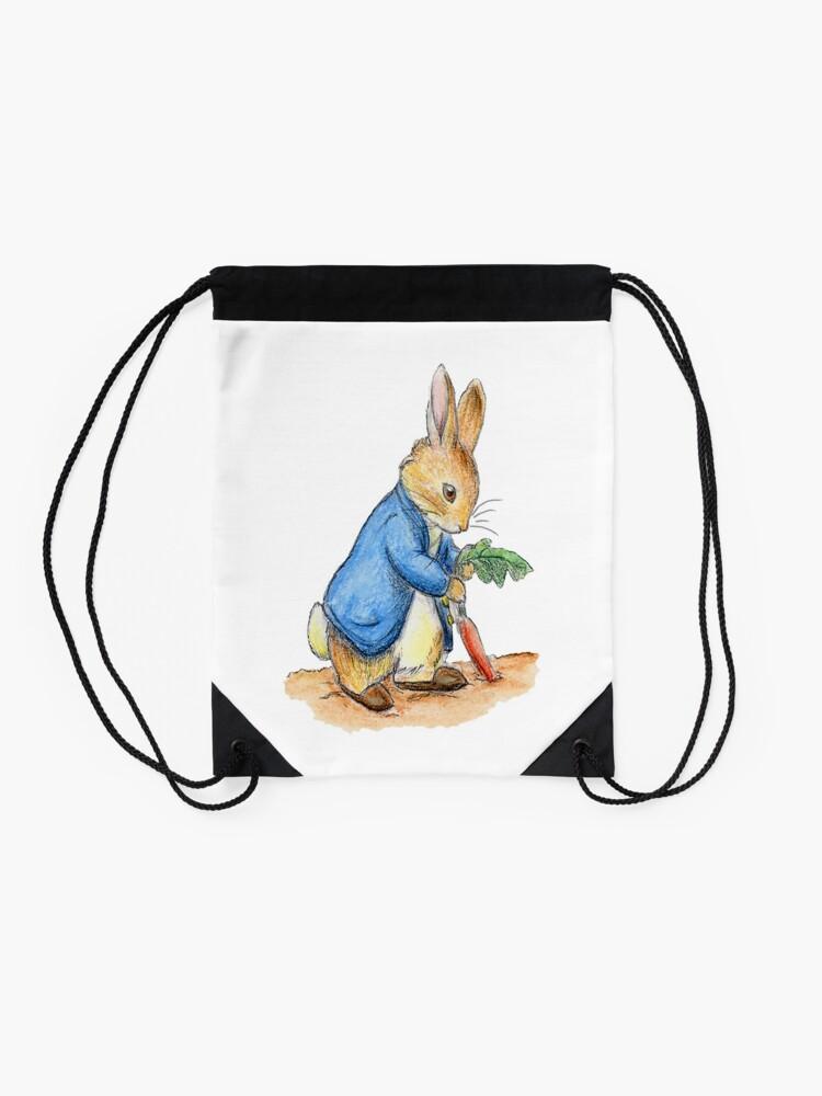 Alternative Ansicht von Kindergartenfiguren, Peter Rabbit, Beatrix Potter. Turnbeutel