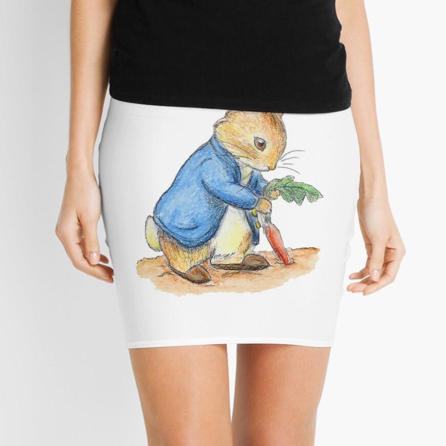 Kindergartenfiguren, Peter Rabbit, Beatrix Potter. Minirock