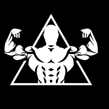 Bodybuilder Flexing Muscle Strong Man Fitness Gym Design by mrkprints