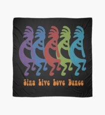 Sing, Live, Love Dance Tribal Kokopelli Scarf