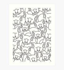 Minimalist Koala Art Print