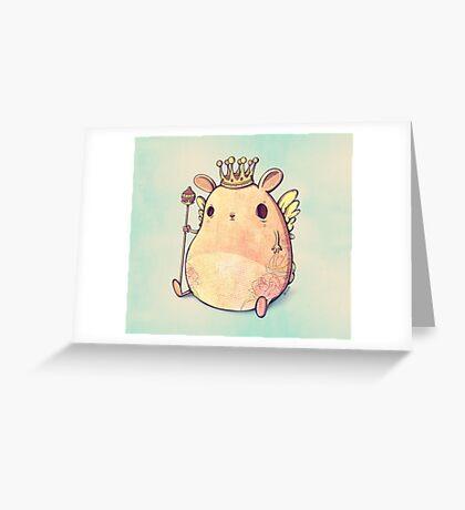 Prince Angel of Bunnyland Greeting Card