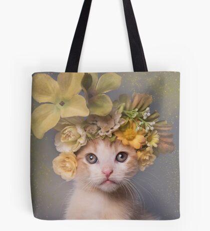 Flower Power, Bull the Kitten Tote Bag