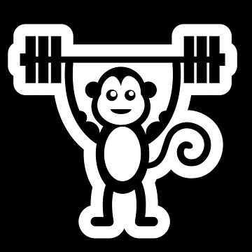 Muscle Monkey Bodybuilding Weightlifting Fun Design by mrkprints