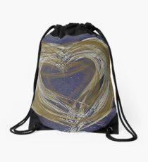 Hearts Of Gold Drawstring Bag