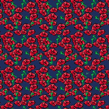 Poppies pattern by BlueVein