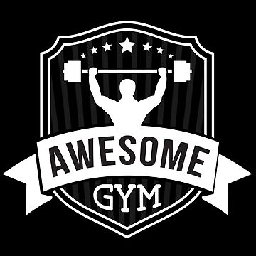 Awesome Gym Dead-lift Weightlifting Bodybuilding Fitness Gym Muscle Design  by mrkprints