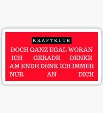 AM ENDE - KRAFTKLUB Sticker