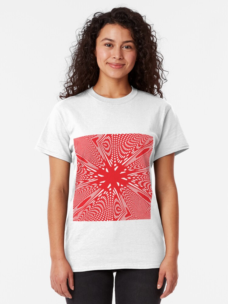 Alternate view of Art #Art #abstract #pattern #design #blue #fractal #wallpaper #digital #graphic #texture #green #art #backdrop #pink #light #red #flower #decorative #star #purple #white #color #psychedelic #geom Classic T-Shirt