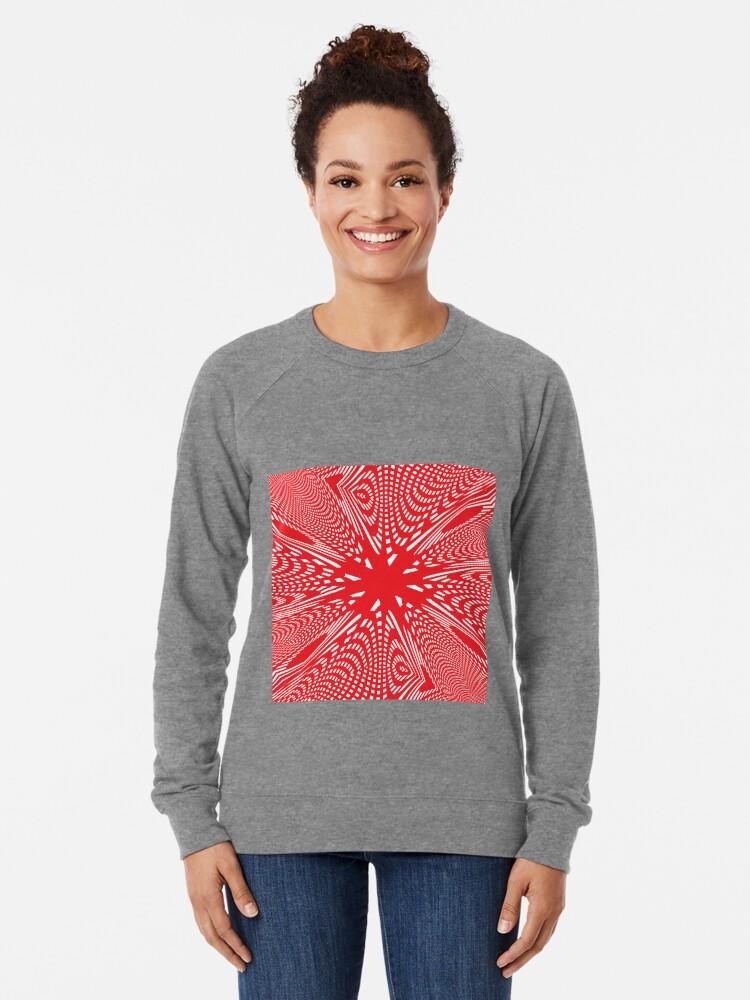 Alternate view of Art #Art #abstract #pattern #design #blue #fractal #wallpaper #digital #graphic #texture #green #art #backdrop #pink #light #red #flower #decorative #star #purple #white #color #psychedelic #geom Lightweight Sweatshirt