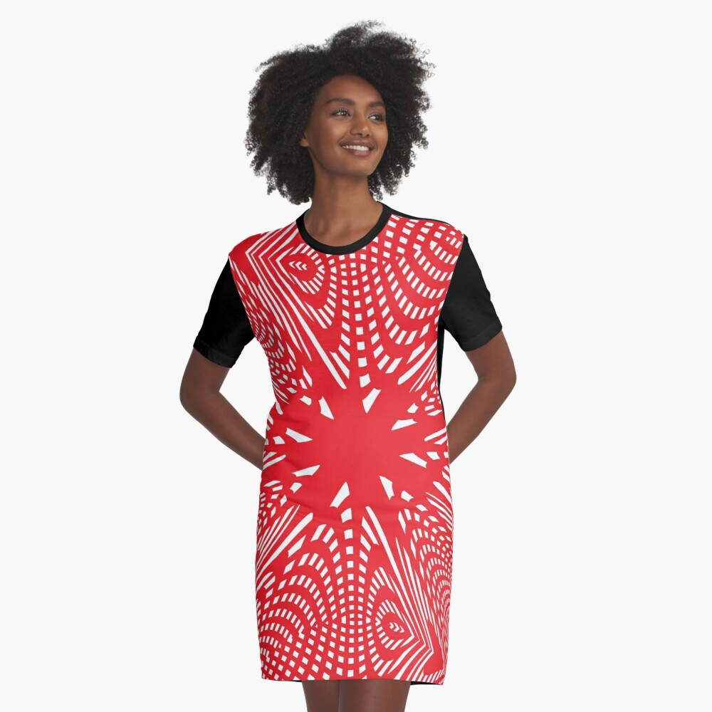 Art #Art #abstract #pattern #design #blue #fractal #wallpaper #digital #graphic #texture #green #art #backdrop #pink #light #red #flower #decorative #star #purple #white #color #psychedelic #geom Graphic T-Shirt Dress Front