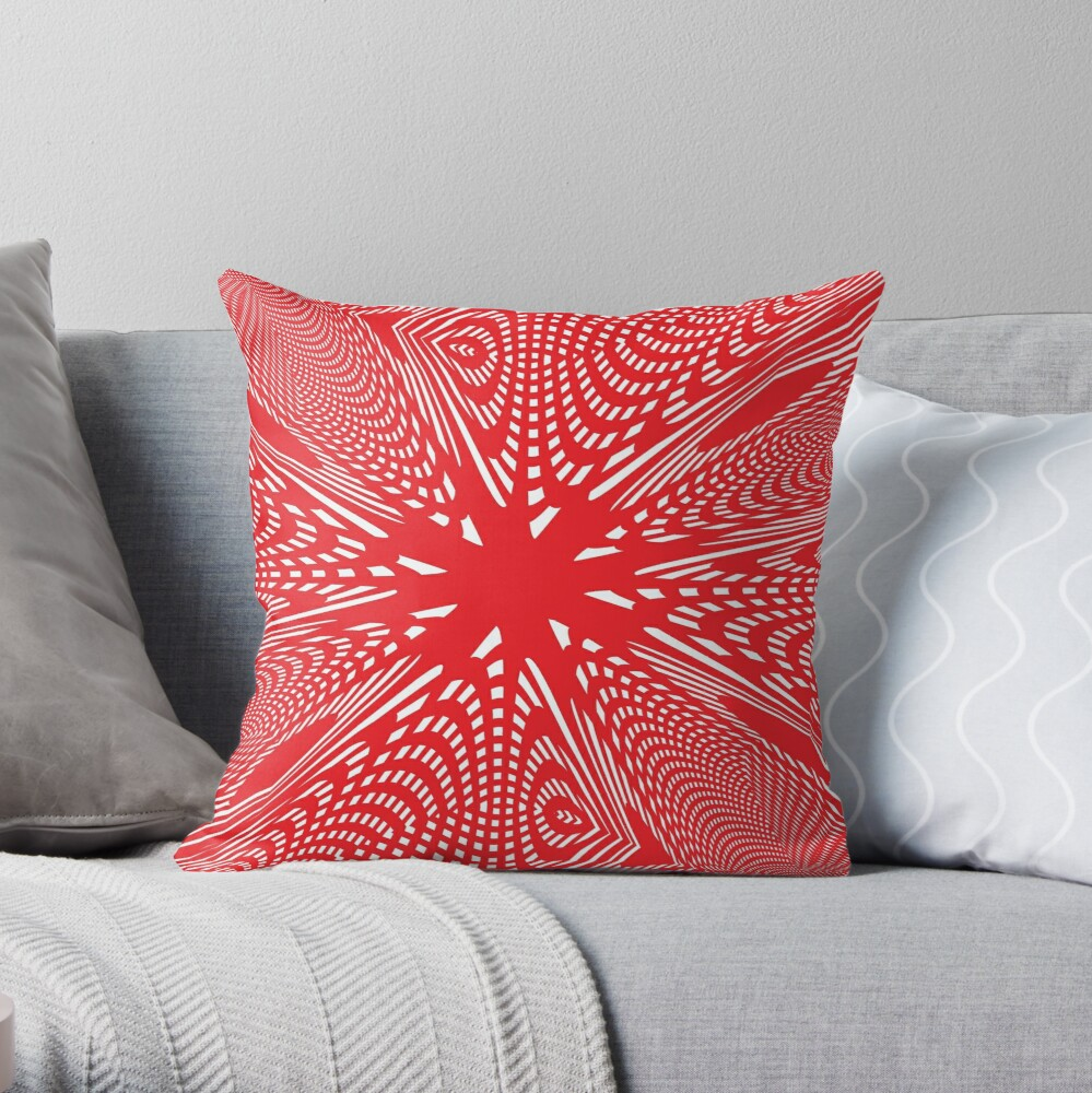 Art #Art #abstract #pattern #design #blue #fractal #wallpaper #digital #graphic #texture #green #art #backdrop #pink #light #red #flower #decorative #star #purple #white #color #psychedelic #geom Throw Pillow